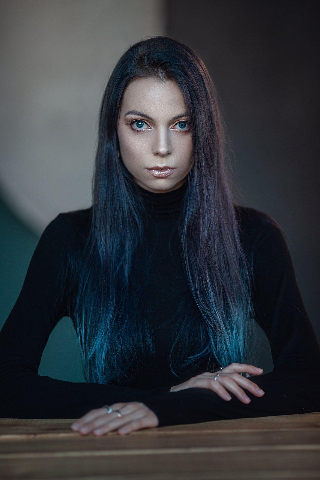 девушка, русалка, синий, танец, mermaid, tail , Елена Молчанова