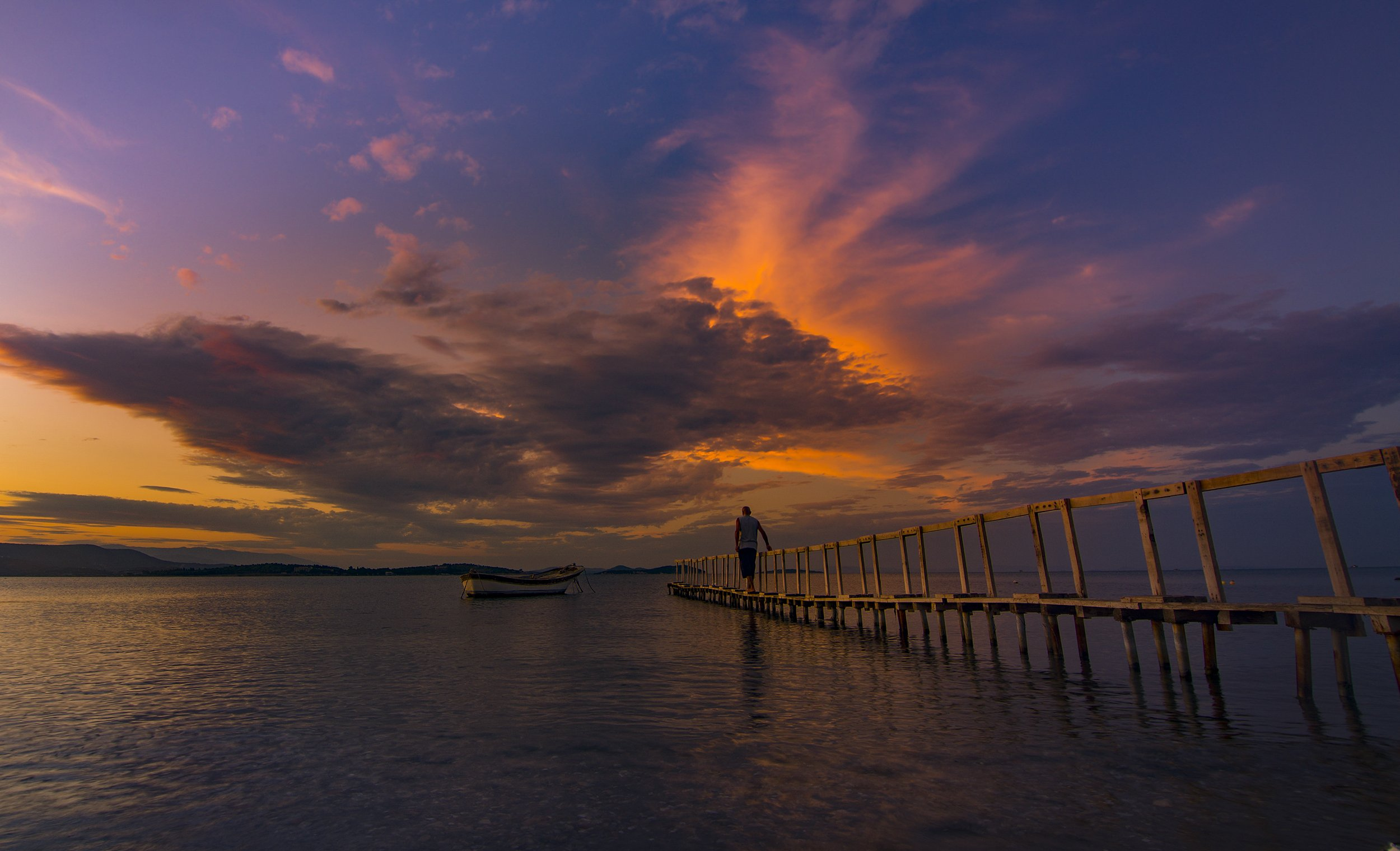 boat,sea.sunset,sunrise,clouds,sky,, Enver Karanfil