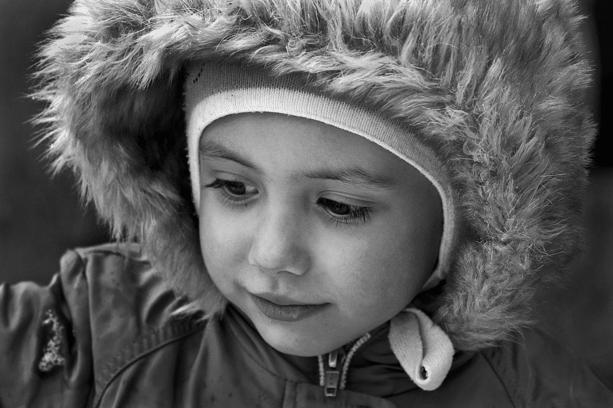 портрет, дети, глаза, взгляд, чб, апатиты, Николай Смоляк