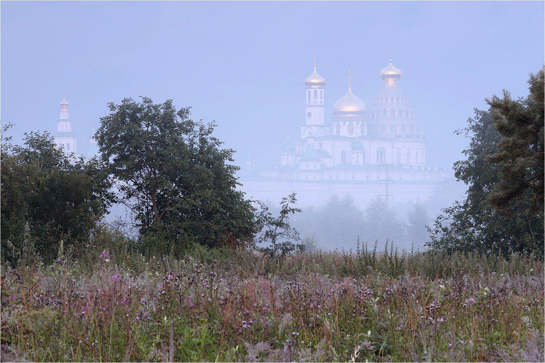 утро, лето, июль, туман, монастырь, истра, новый иерусалим,, Victor Pechenev