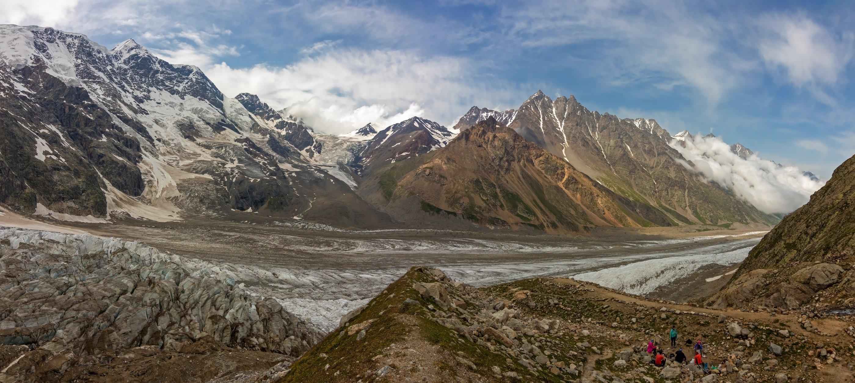 кавказ, ледник, горы, ночевки, Эстелла