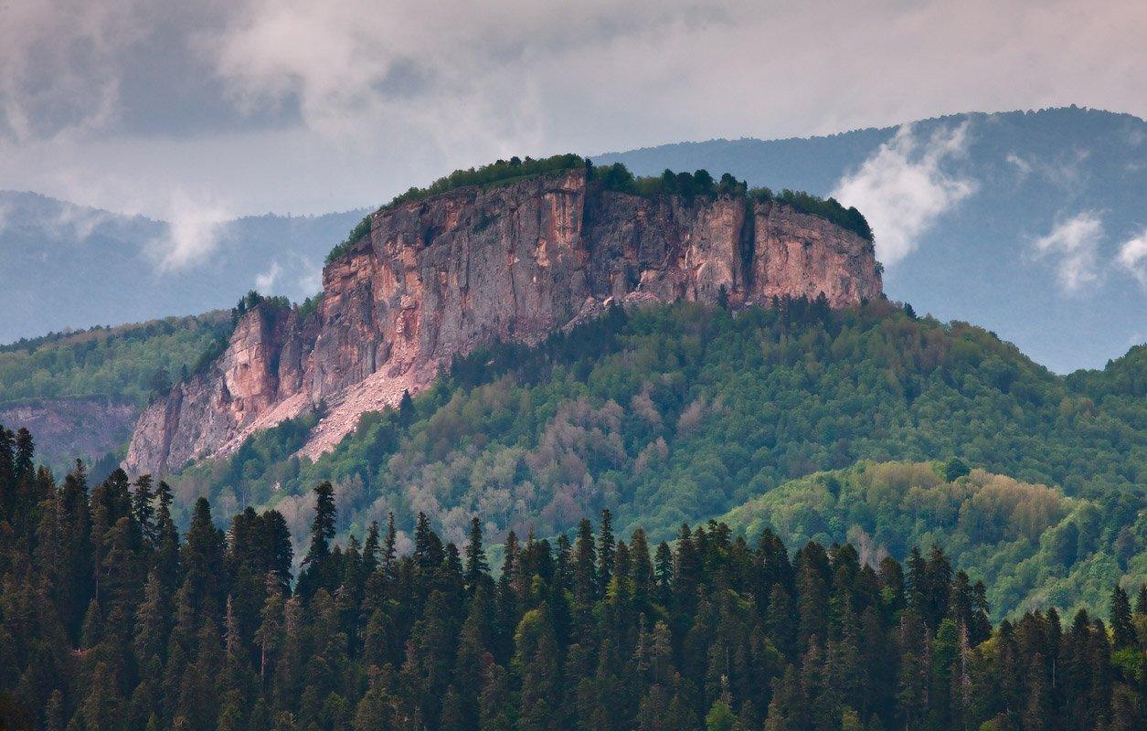 горы, кавказ, море, леса, скала, крепость, Николай