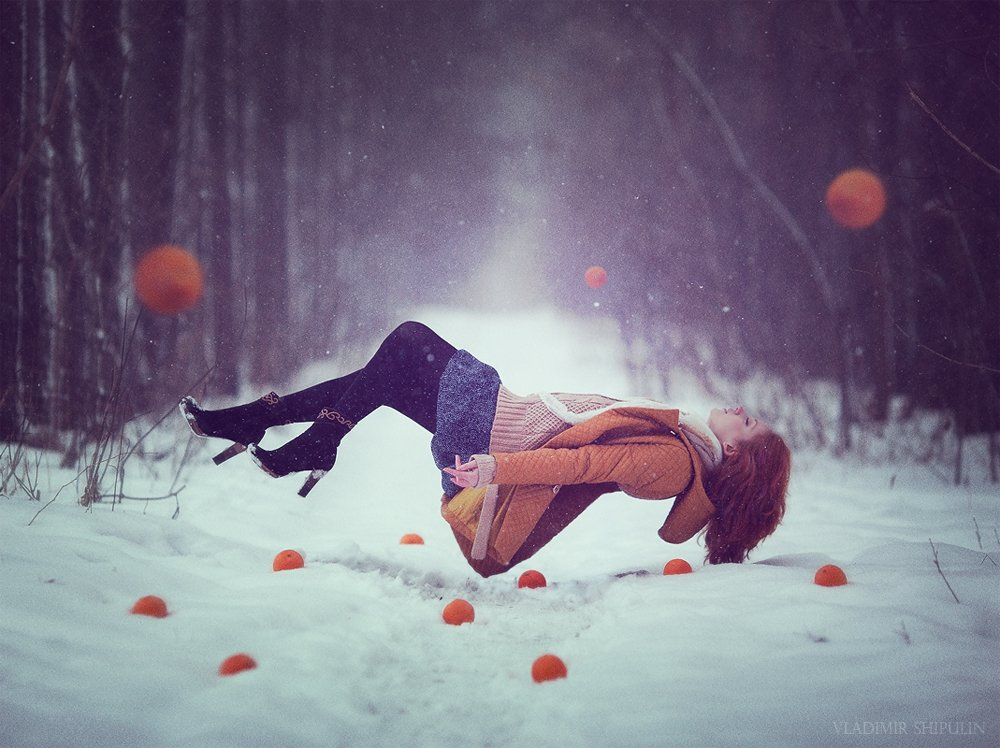 forest,girl,beauty,people,vladimir,nature,зима,снег,лес,snow,art,photos,фото,люди,арт,levitation,oranges,владимир,апельсины,shipulin,шипулин, Vladim_Shipulin