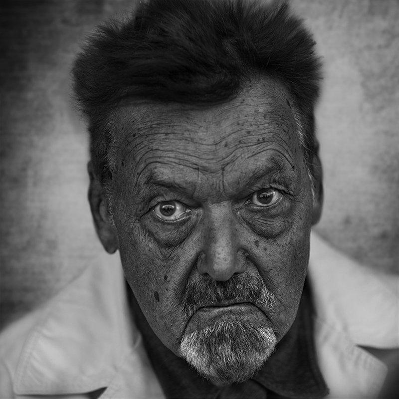 портрет юрий_калинин лица черно_белое юрец уличная_фотография люди, Юрий Калинин