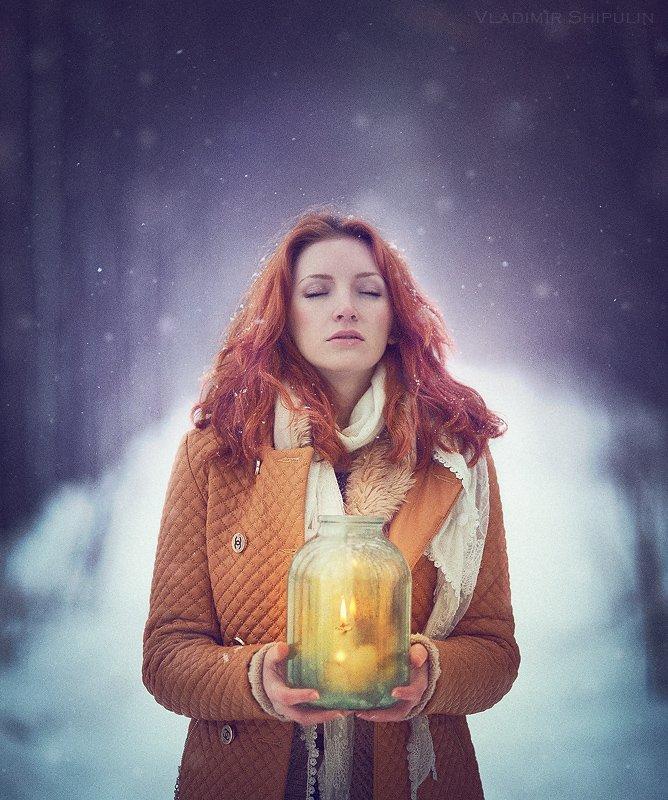 forest,girl,beauty,people,vladimir,nature,зима,снег,лес,snow,art,photos,фото,люди,арт,levitation,владимир,shipulin,шипулин, Vladim_Shipulin