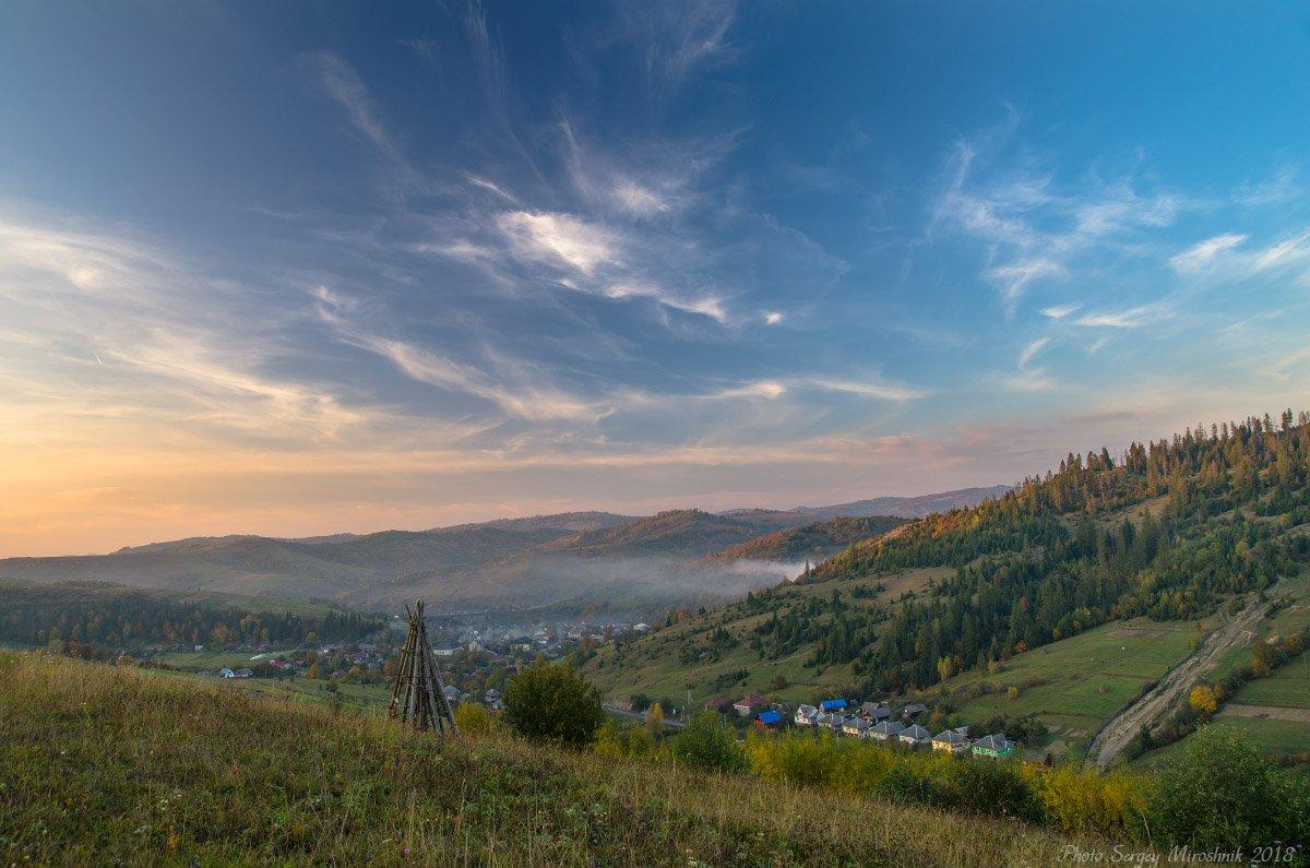 пейзаж, октябрь, небо, карпаты, осень, красиво, боржава, Сергій Мірошник