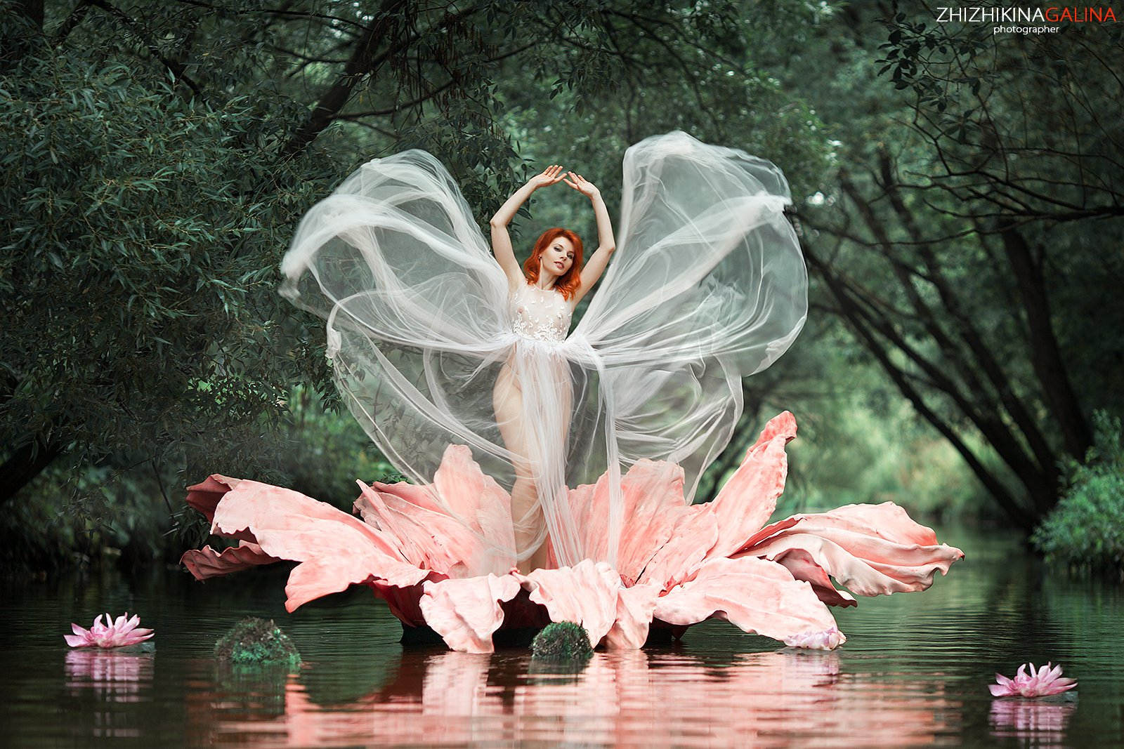 девушка, цветок, портрет, бабочка, ню, артню, природа, река, вода, кувшинка, nude, portrait, nu, girl, photo,, Галина Жижикина