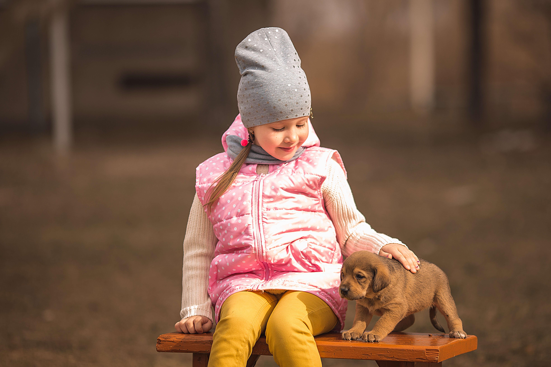 девочка, фотосессия, щенки, весна, фотопроект, Васильев Владимир
