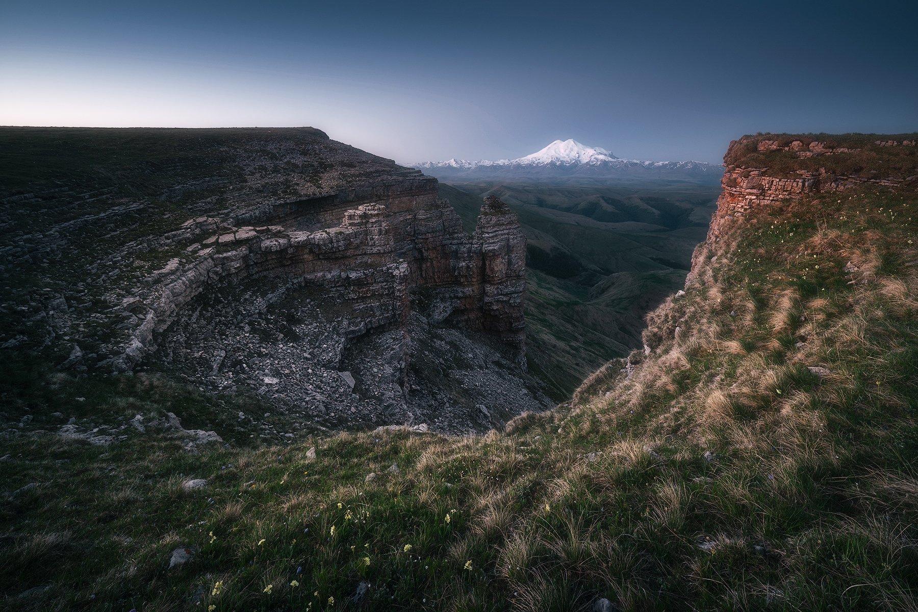 рассвет, горы, плато, кавказ, пейзаж, карачаево-черкесия, бермамыт, эльбрус, Leschinskaya Tania