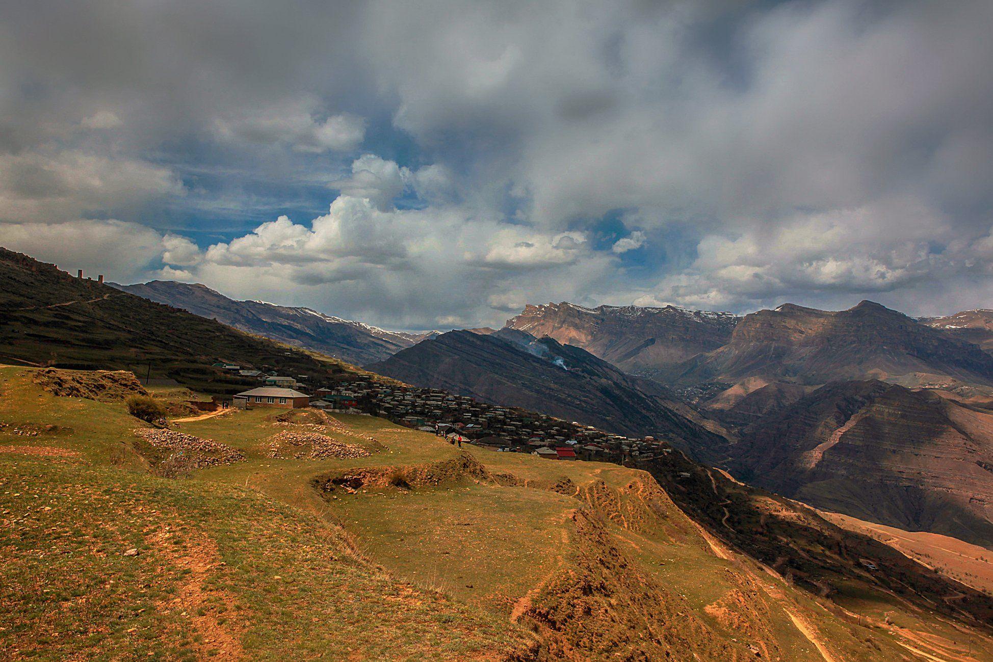 аул,гоор,горы,пейзаж,горный пейзаж,весна,дагестан,северный кавказ,шамильский район., Magov Marat