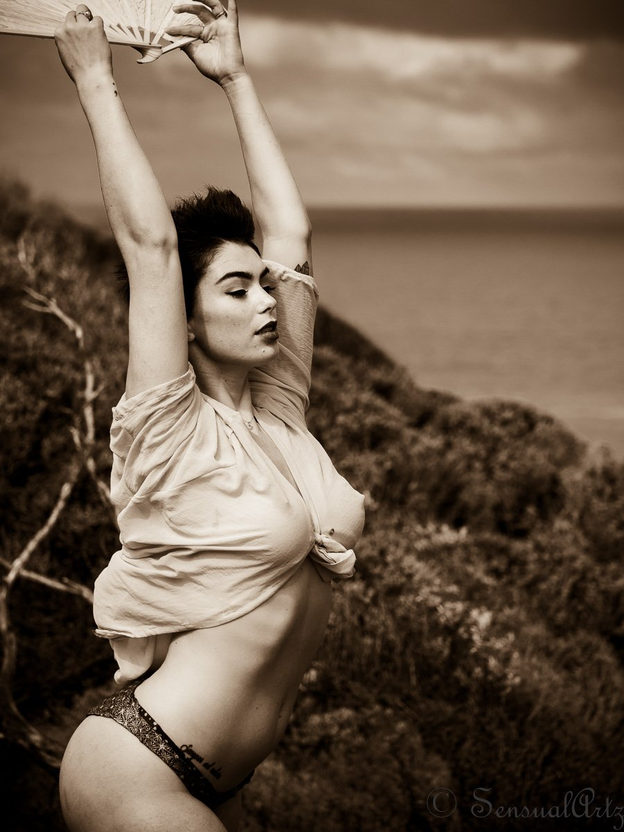 female, woman, wind,, Rogers Gary