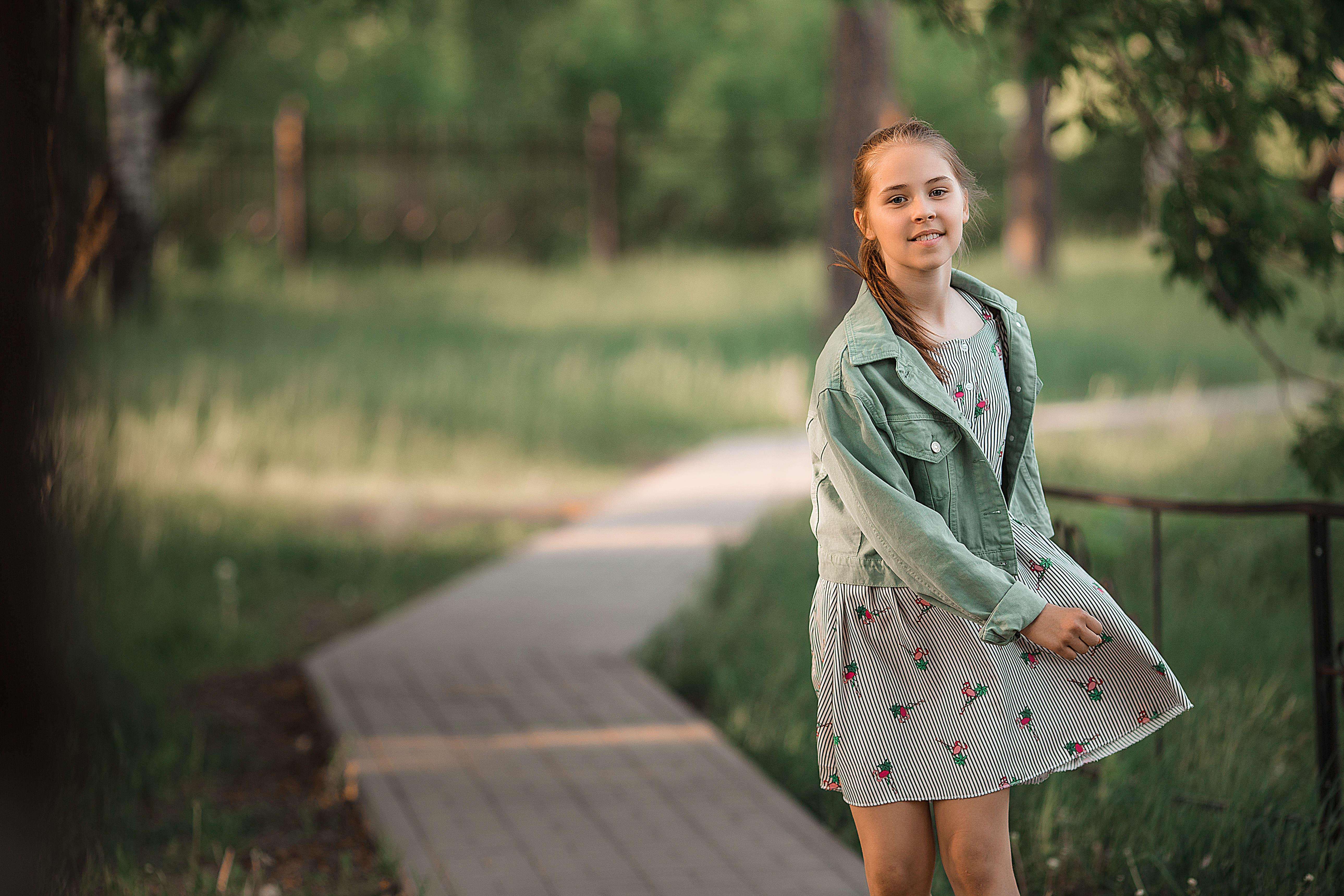 девочка, фотосессия, портрет, фотосессия на закате, парк культуры и отдыха, Васильев Владимир