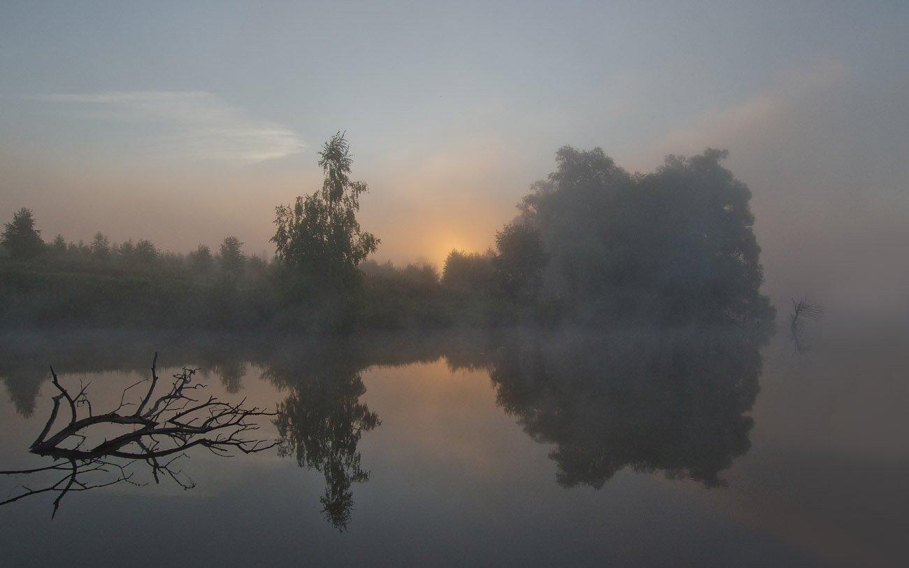 утро, рассвет, природа, пейзаж, Михаил Агеев