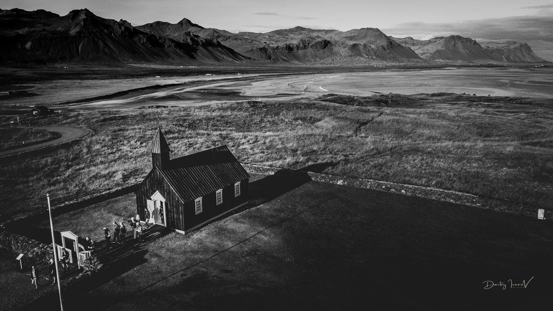 пейзаж, церковь, исландия, iceland, Дмитрий Иванов