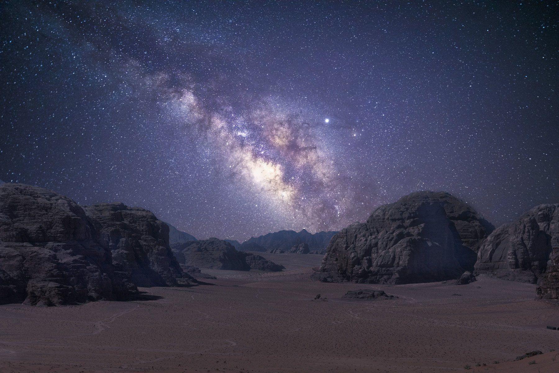 jordan desert wadi rum milky way sony laowa long exposure nightscape, Felix Ostapenko