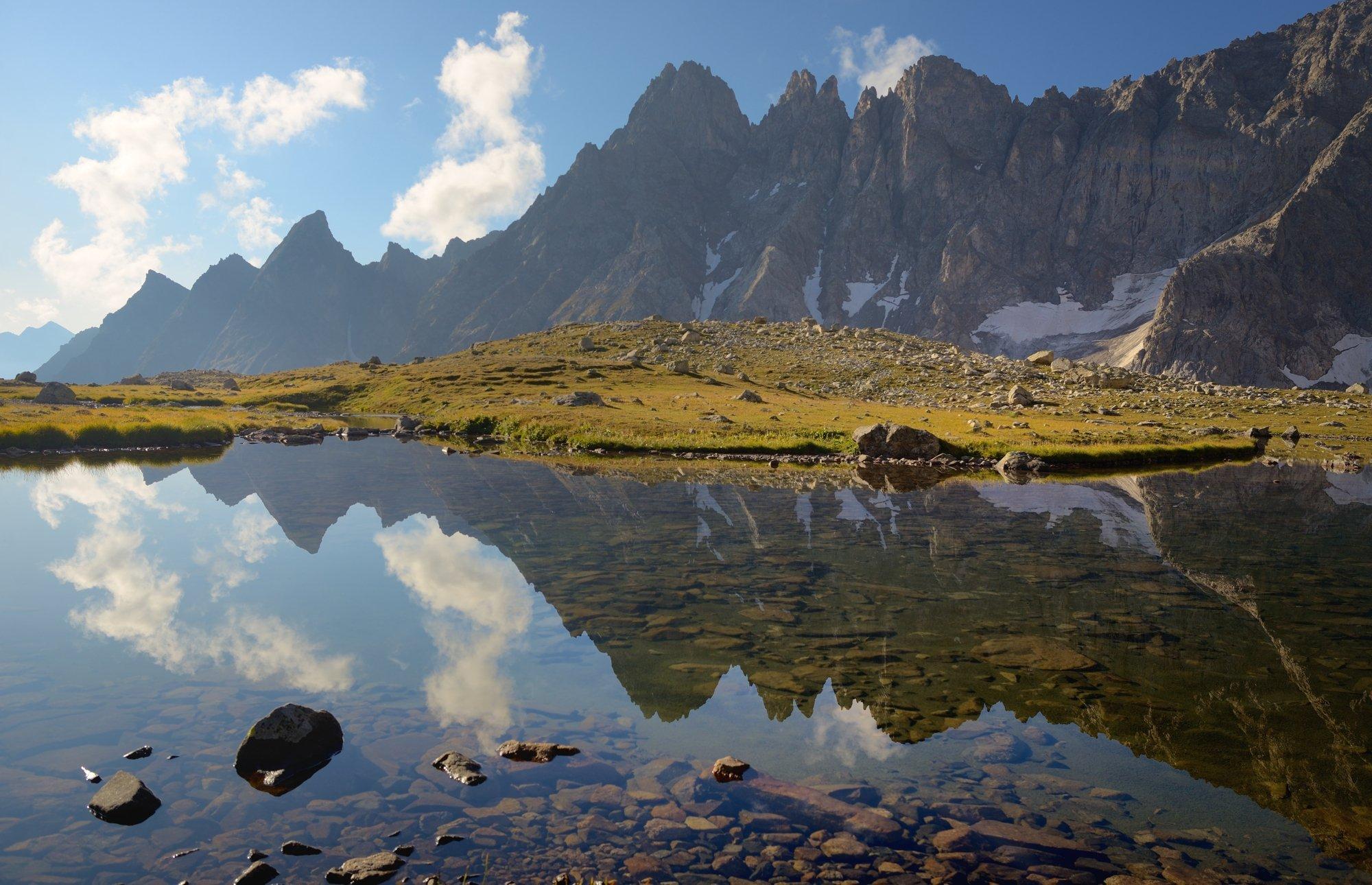 горы озеро кавказ хаджибей, Александр Жарников