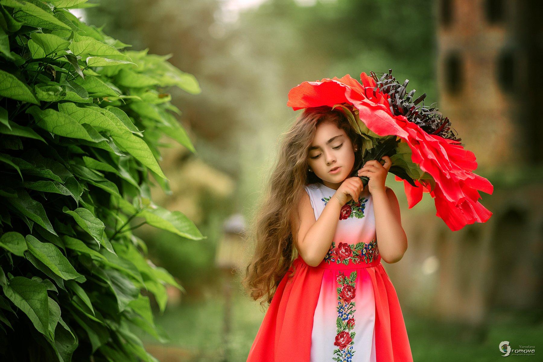 девочка, цветок, лето, сказка, Громова Ярослава