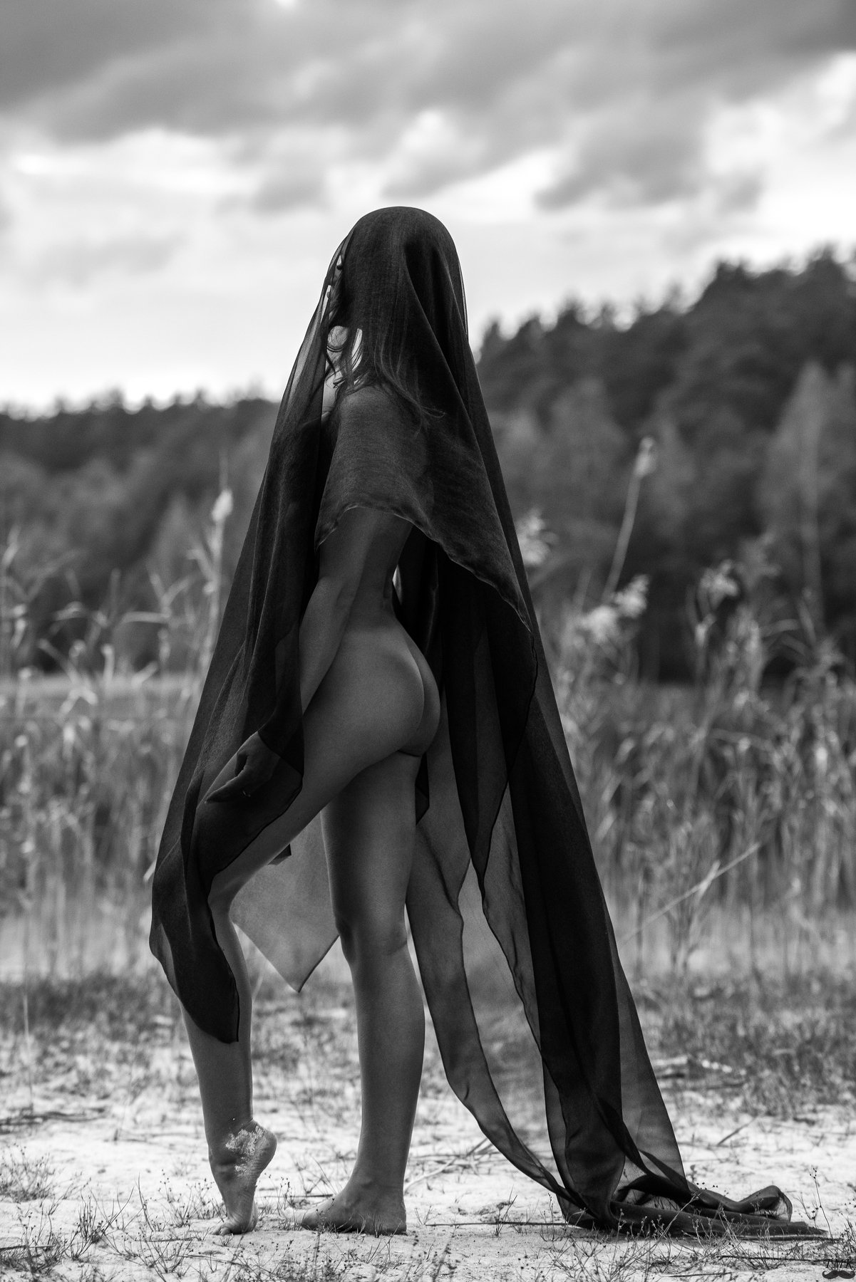 people, outdoor, nature, summer, woman, nude, beauty, bw, monochrome, black and white, dramatic, Masoit Tomas