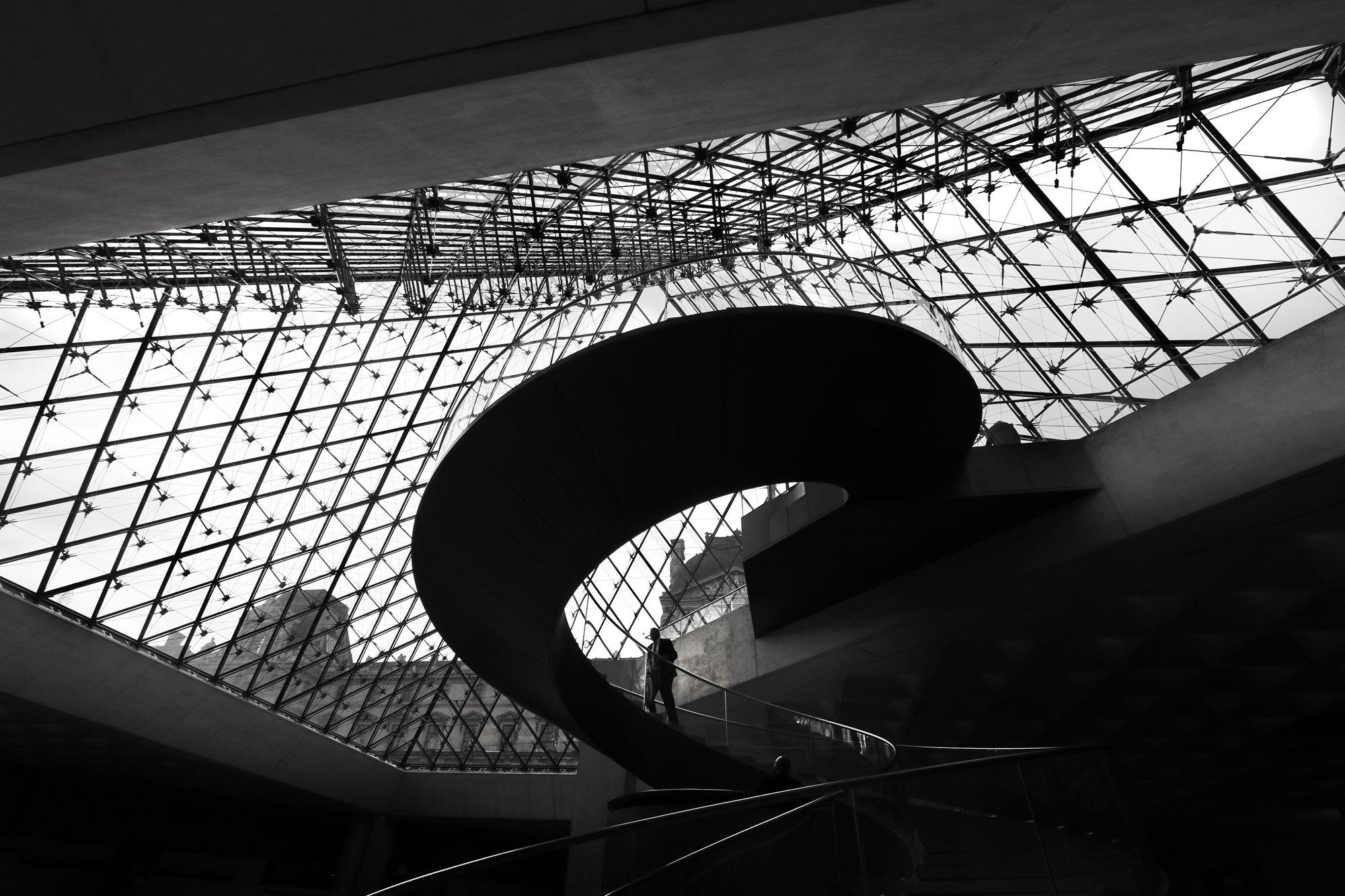 museum, pyramid, louvre, paris, luis lobo henriques, architecture, Lobo Henriques Luis