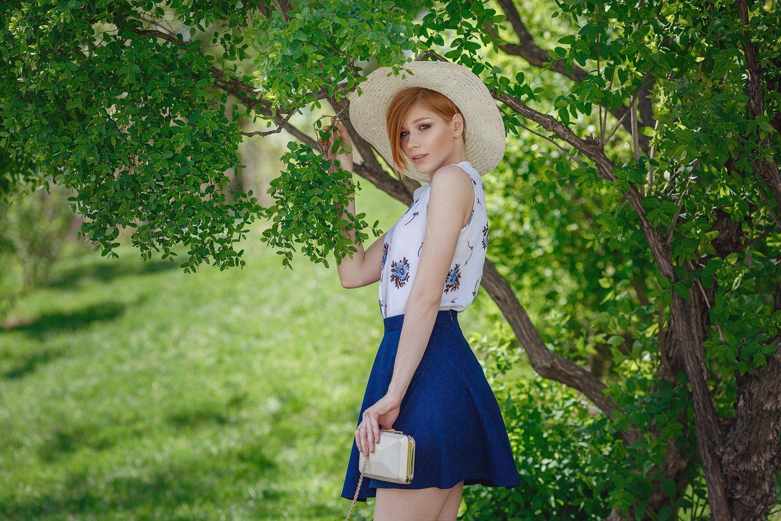 город, прогулка, девушка, весна, счастье, Москва, city, town, walk, woman, ginger, Елена Молчанова