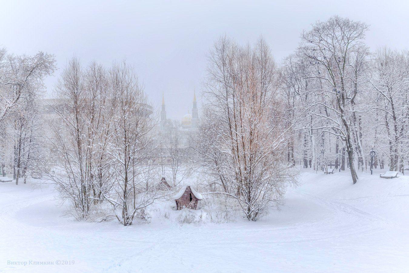 москва, парк, екатерининский, мечеть, зима, Виктор Климкин