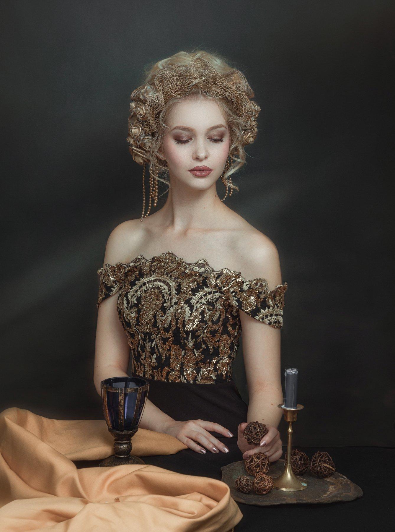 портрет , взгляд ,красивая девушка , цвет ,волосы , красивые губы ,нежность , таинственность, Kholodova Natalia