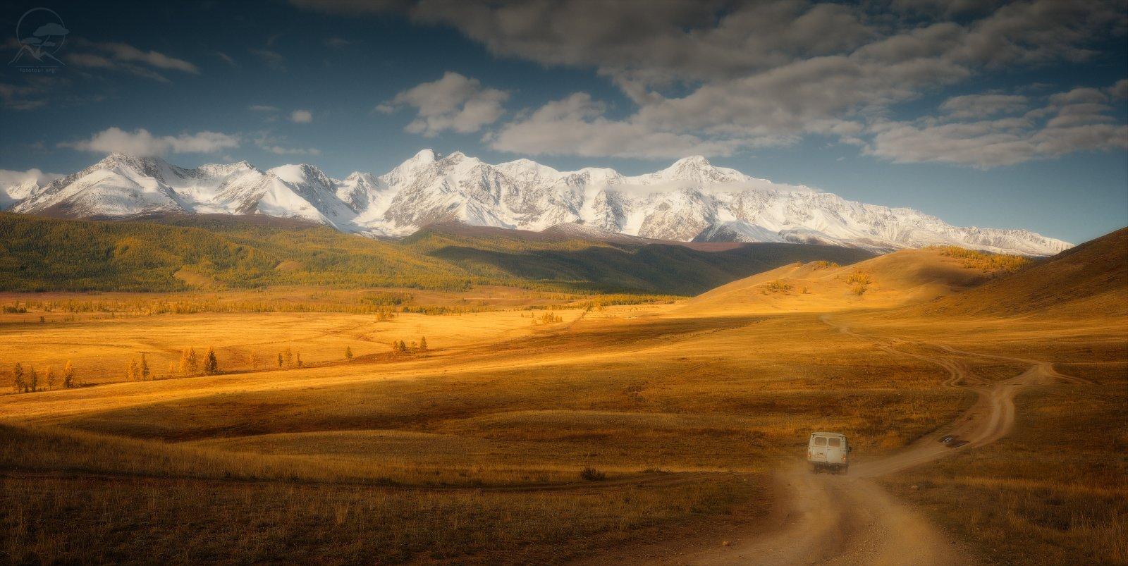 пейзж, природа, горы, алтай, курай, осень, Гордиенко Анатолий