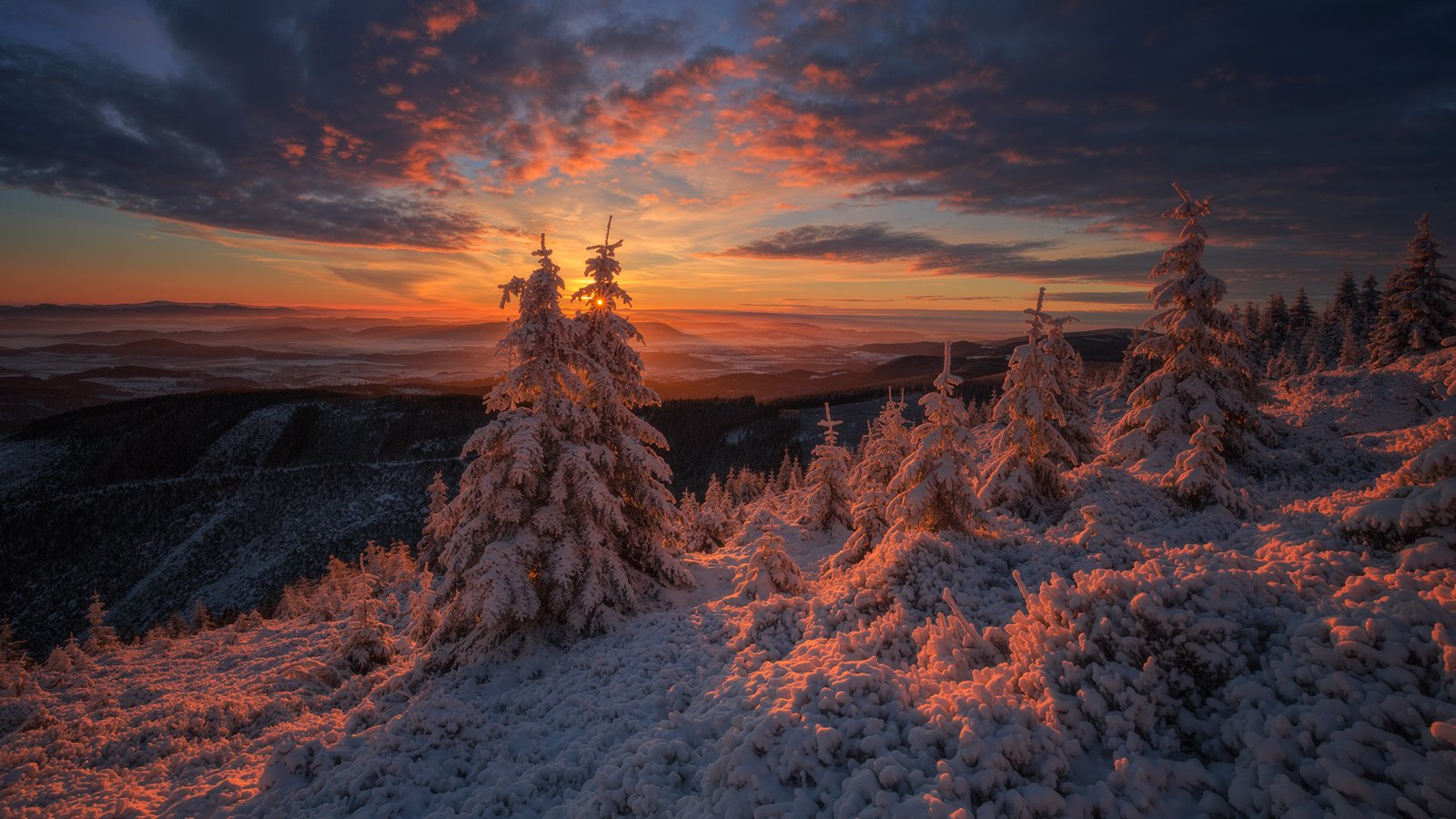 landscape,canon,sunrise,winter,mountains, Iza i Darek Mitręga