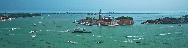 италия, венеция, залив, остров, храм, движение, суда, лодки, Сергей Гаспарян