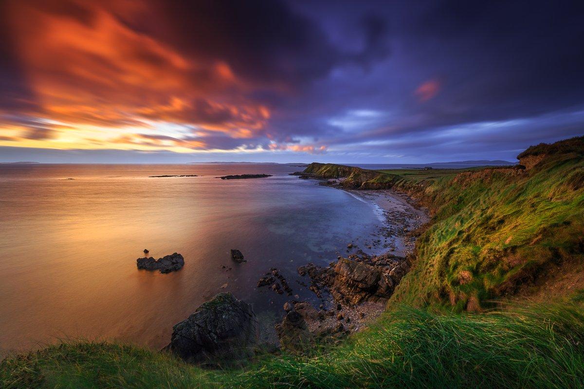 landscapes, seascapes, ireland, connemara, long exposure, sumrise, sunset, Ryszard Lomnicki