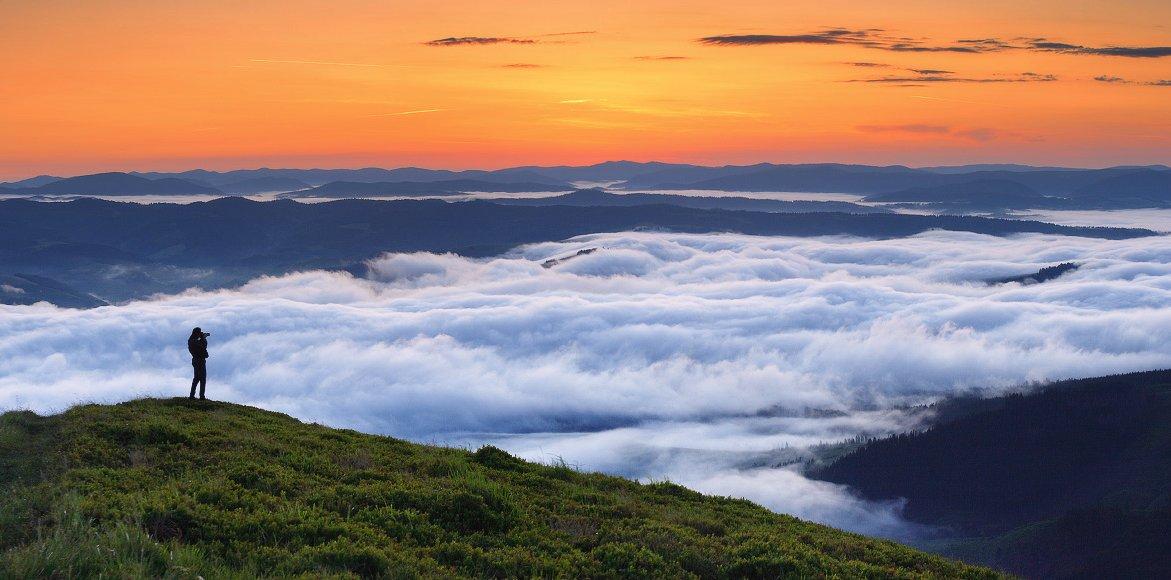 карпаты, горы, рассвет, утро, боржава, украина, Leonid Tit