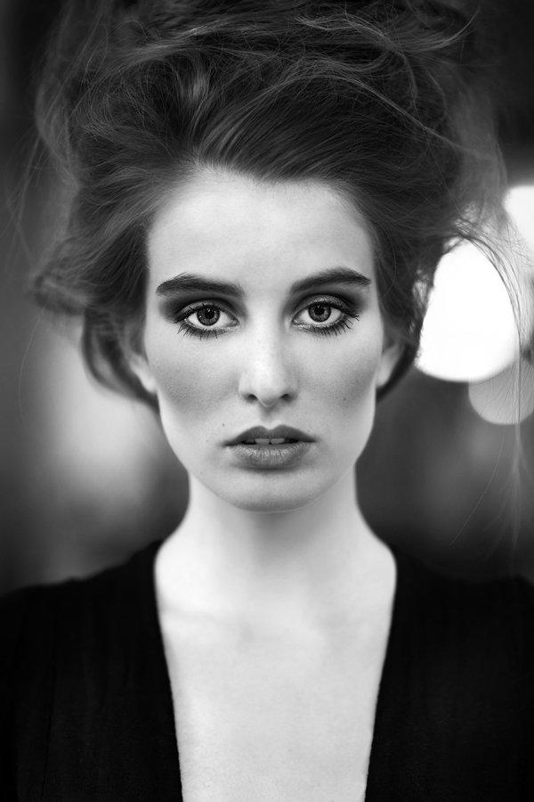portrait, woman, model, beauty, hair, Ludek Ciganek