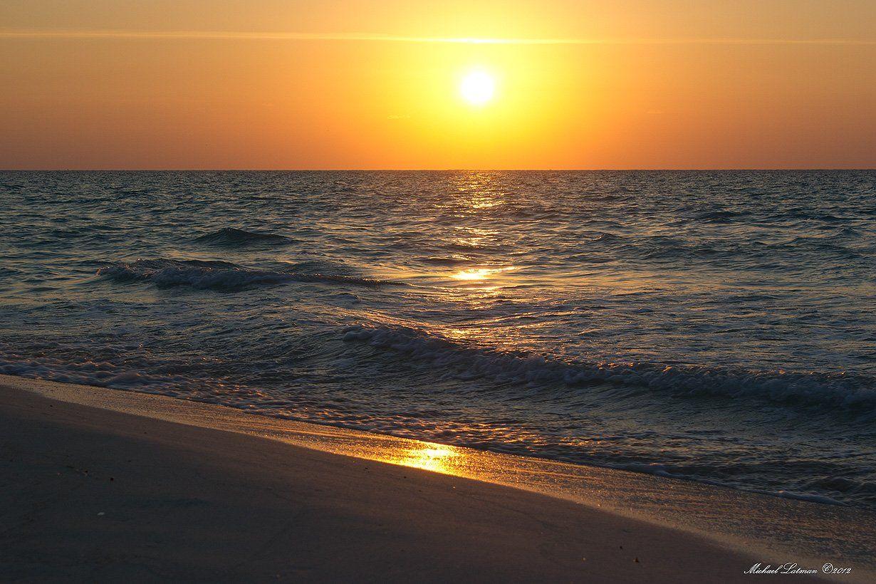 sea,sunrise,water,sky,sun, Michael Latman