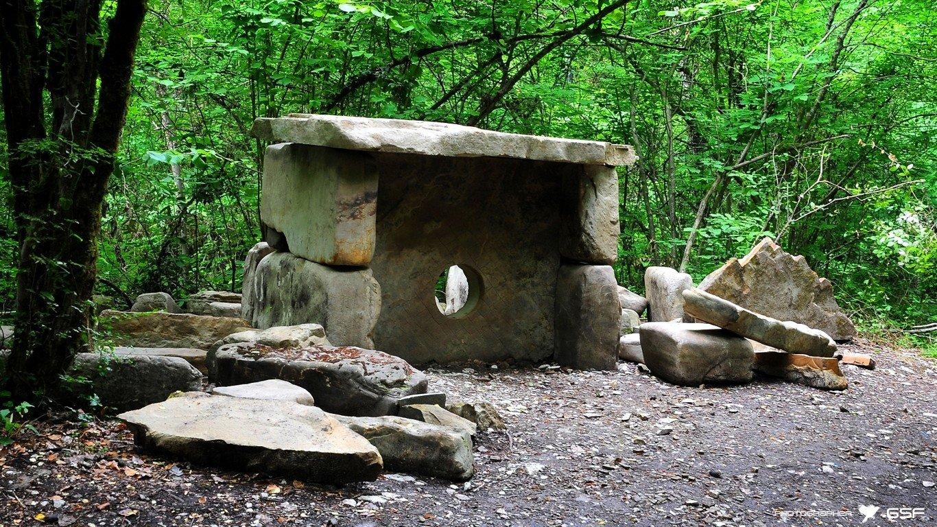 дольмен, лес, ущелье, природа, камень, Serj Master