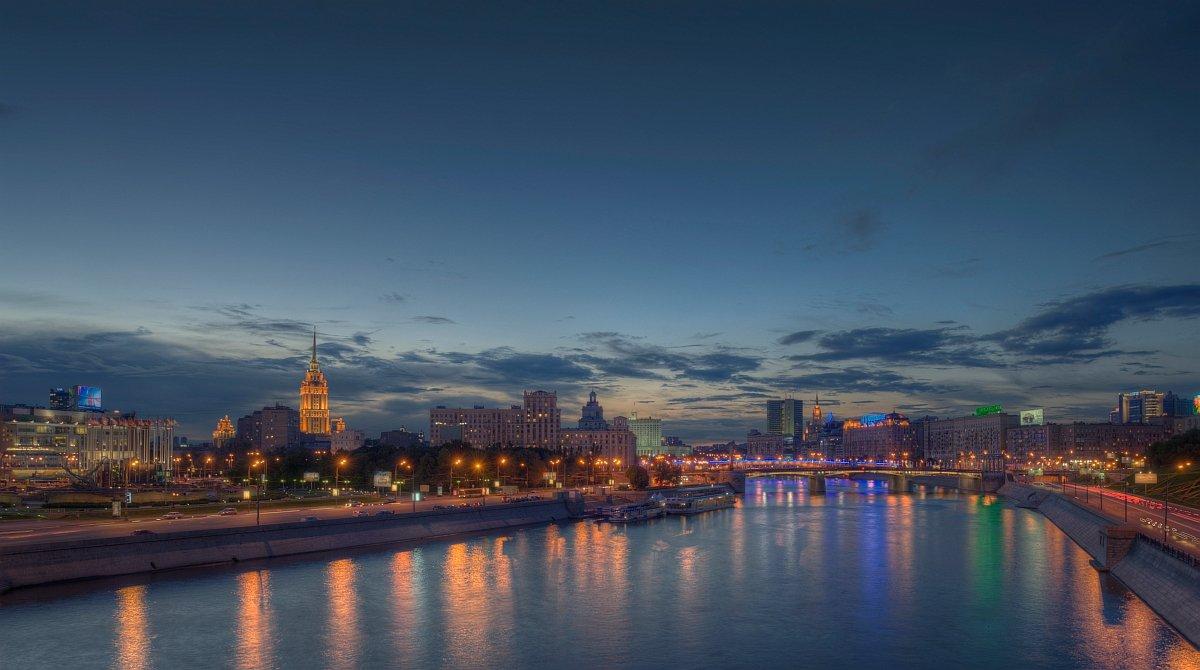 город, пейзаж, ночь, Ефимов Александр