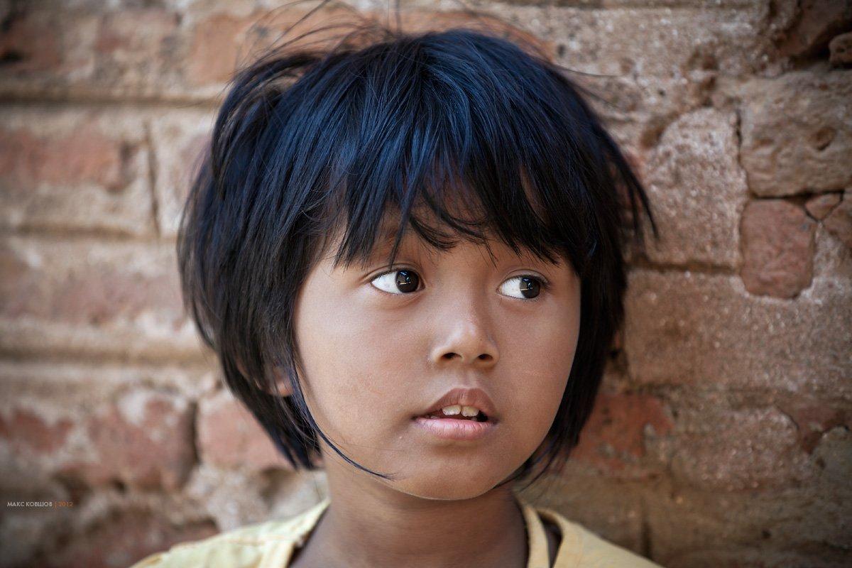 девочка, портрет, мьянма, бирма, Макс Ковшов
