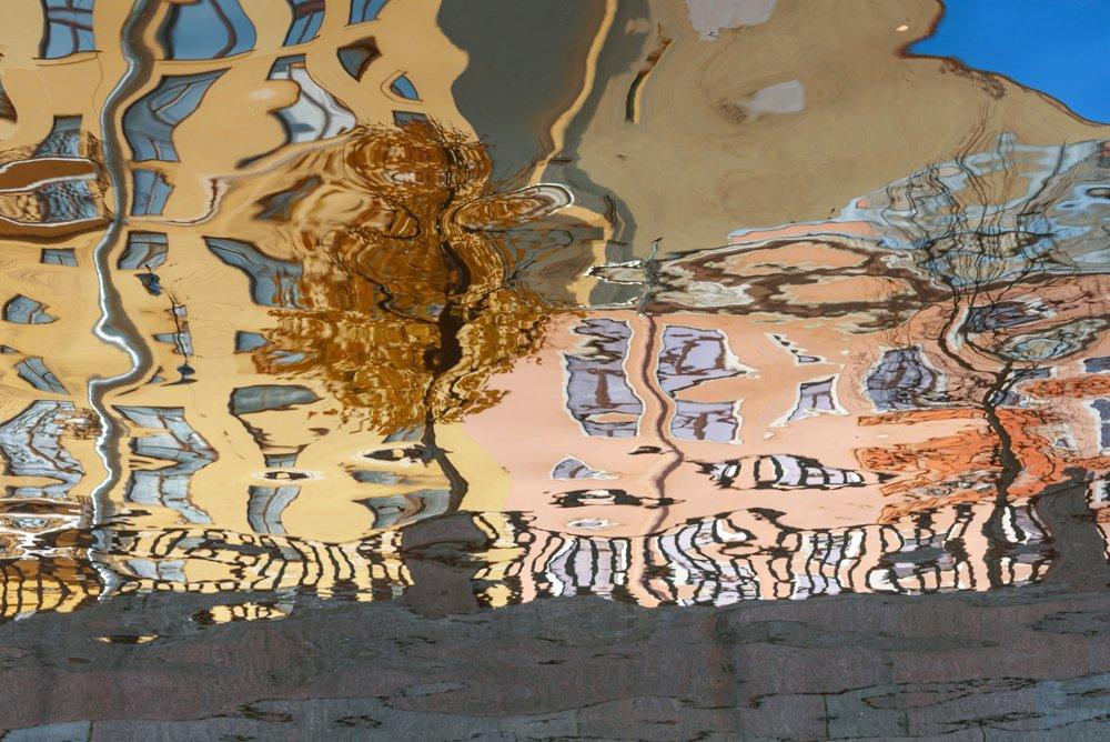 город, санкт-петербург, канал грибоедова, осень, акваабстракция, абстракция, отражения на воде,петербургские акварели, Павлова Марина