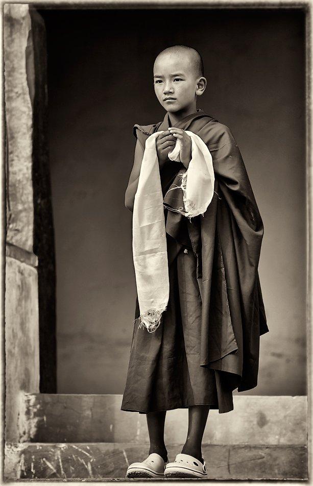 монах, буддизм, тибет, Yury Pustovoy