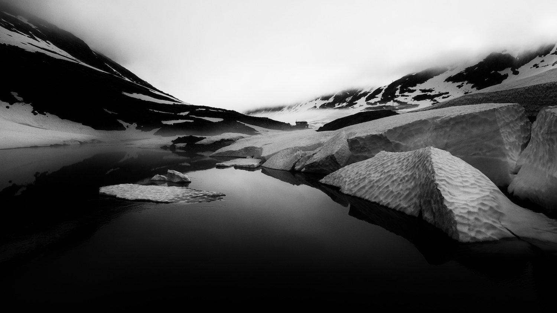 норвегия,вода,снег,туман,облаа,природа,июль,лето., СПИРИДОНОВ НИКОЛАЙ