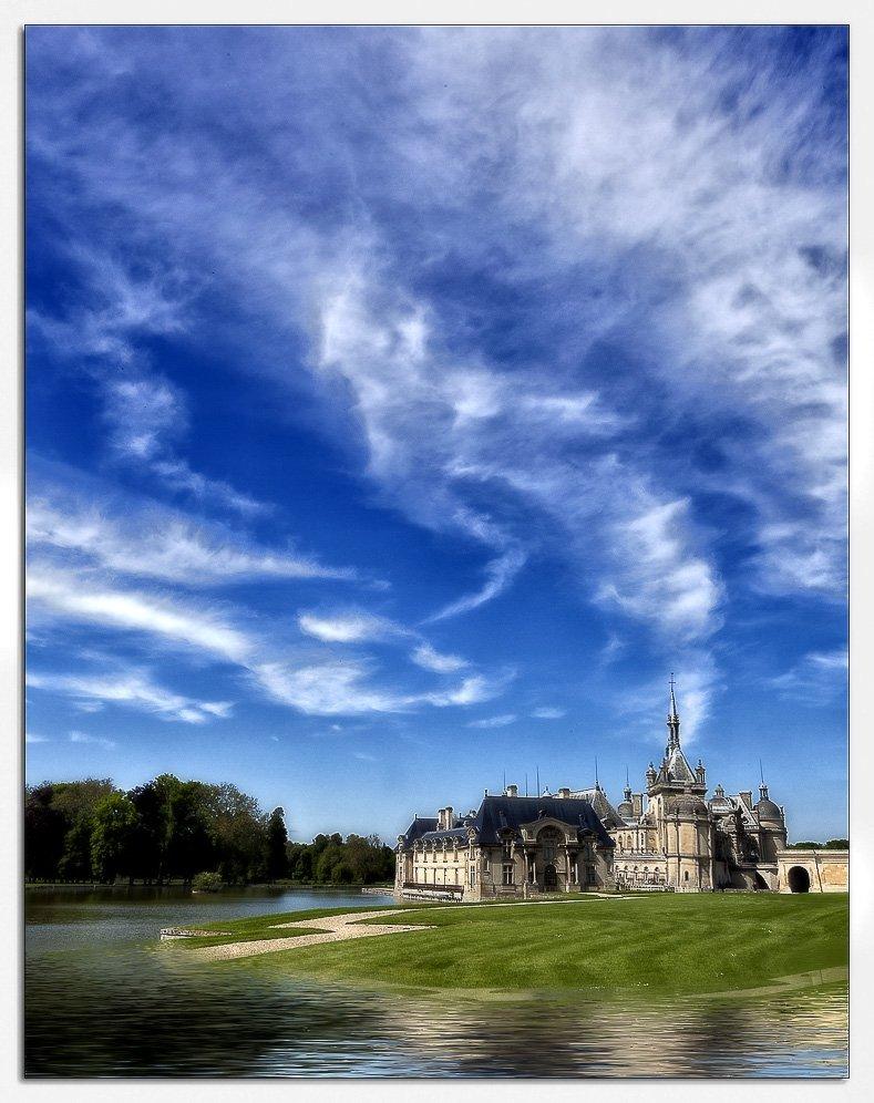 замок, небо, франция, Владимир K.