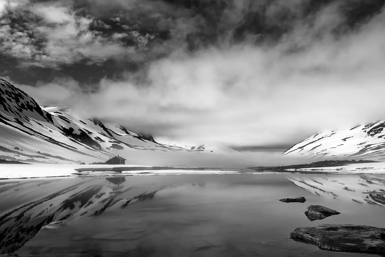 норвегия,июль,горы,озеро,вода,туман,облака., СПИРИДОНОВ НИКОЛАЙ