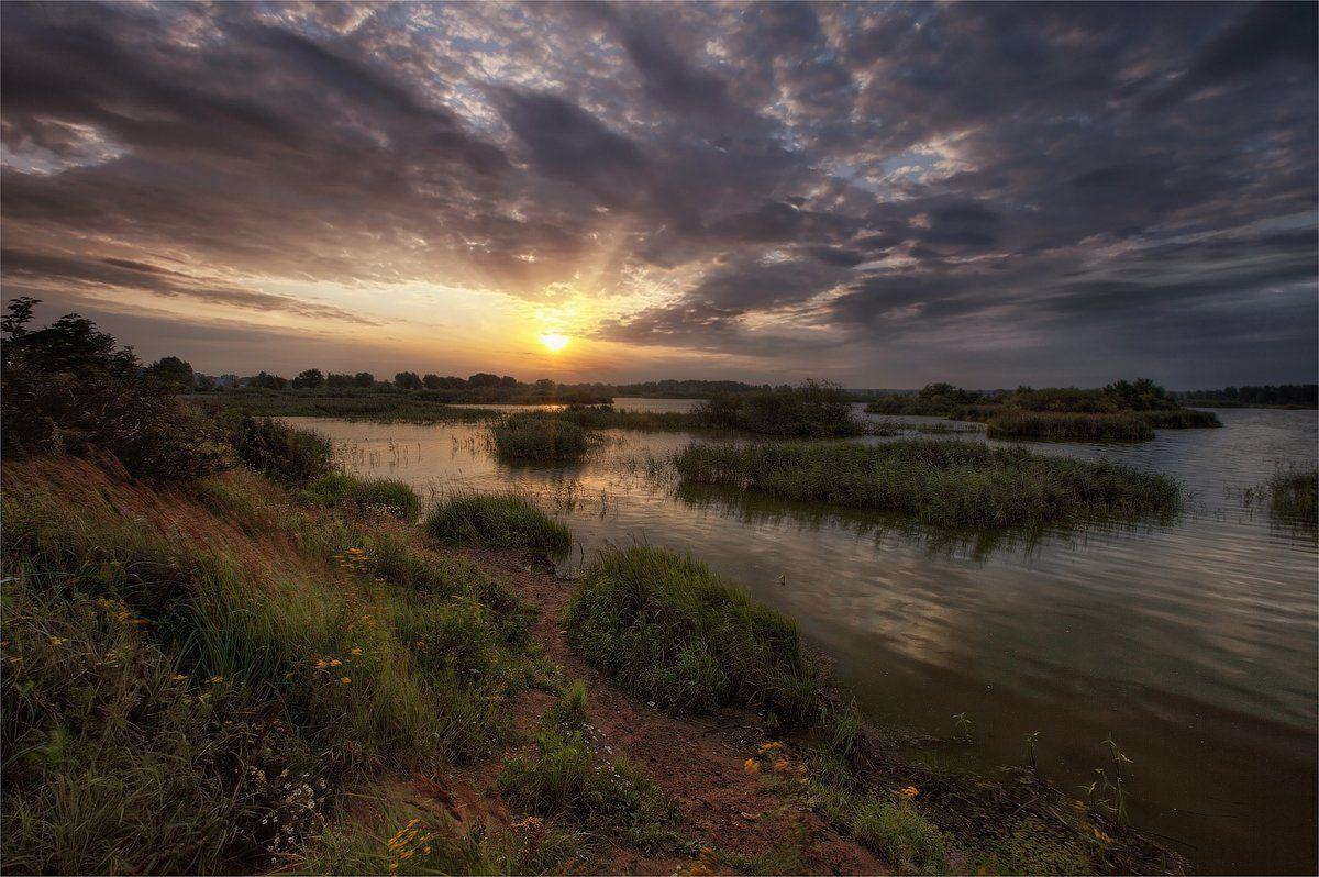 рассвет, озеро, утро, Сергей