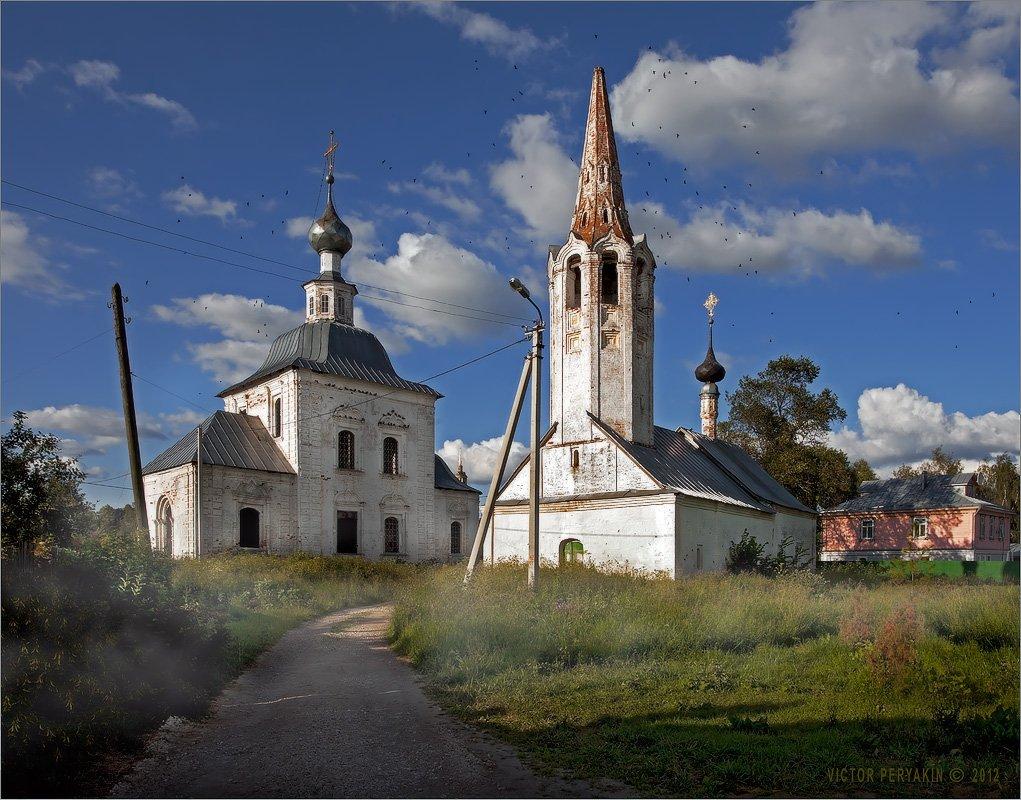 суздаль, старый, город, золотое, кольцо, россия, туман, утро, церковь, Виктор Перякин