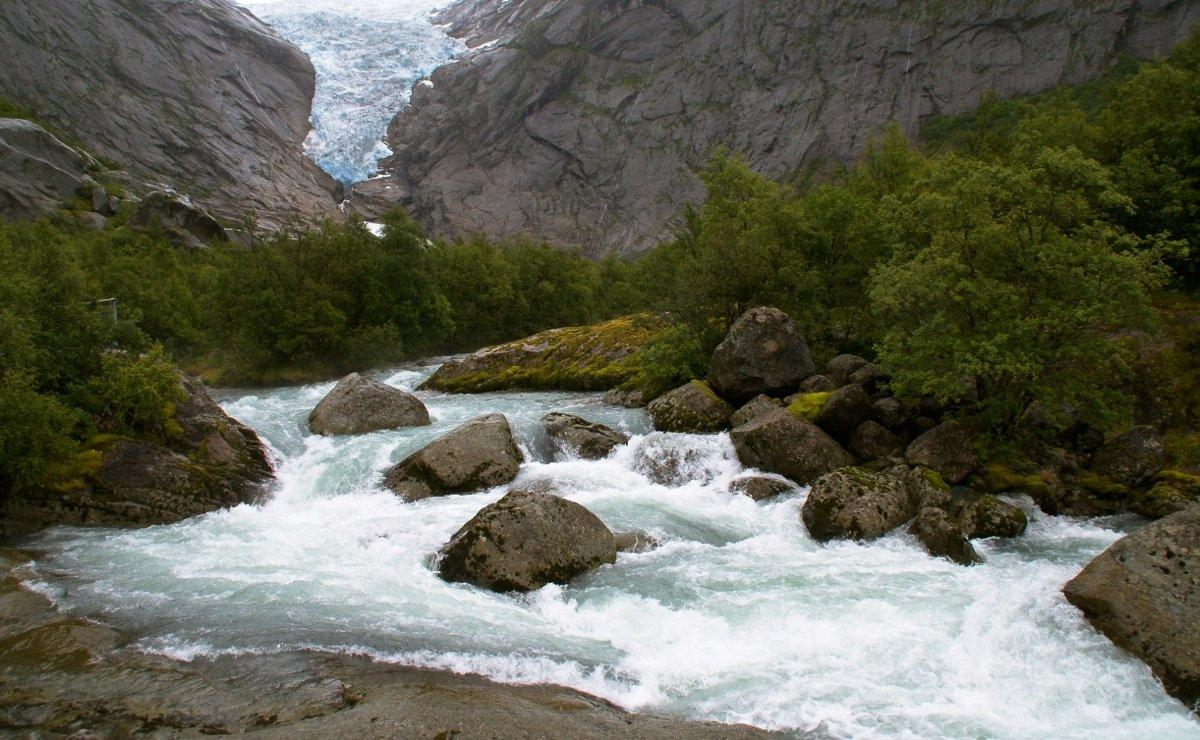 ледник, бриксдаль, норвегия, Олег Потехин