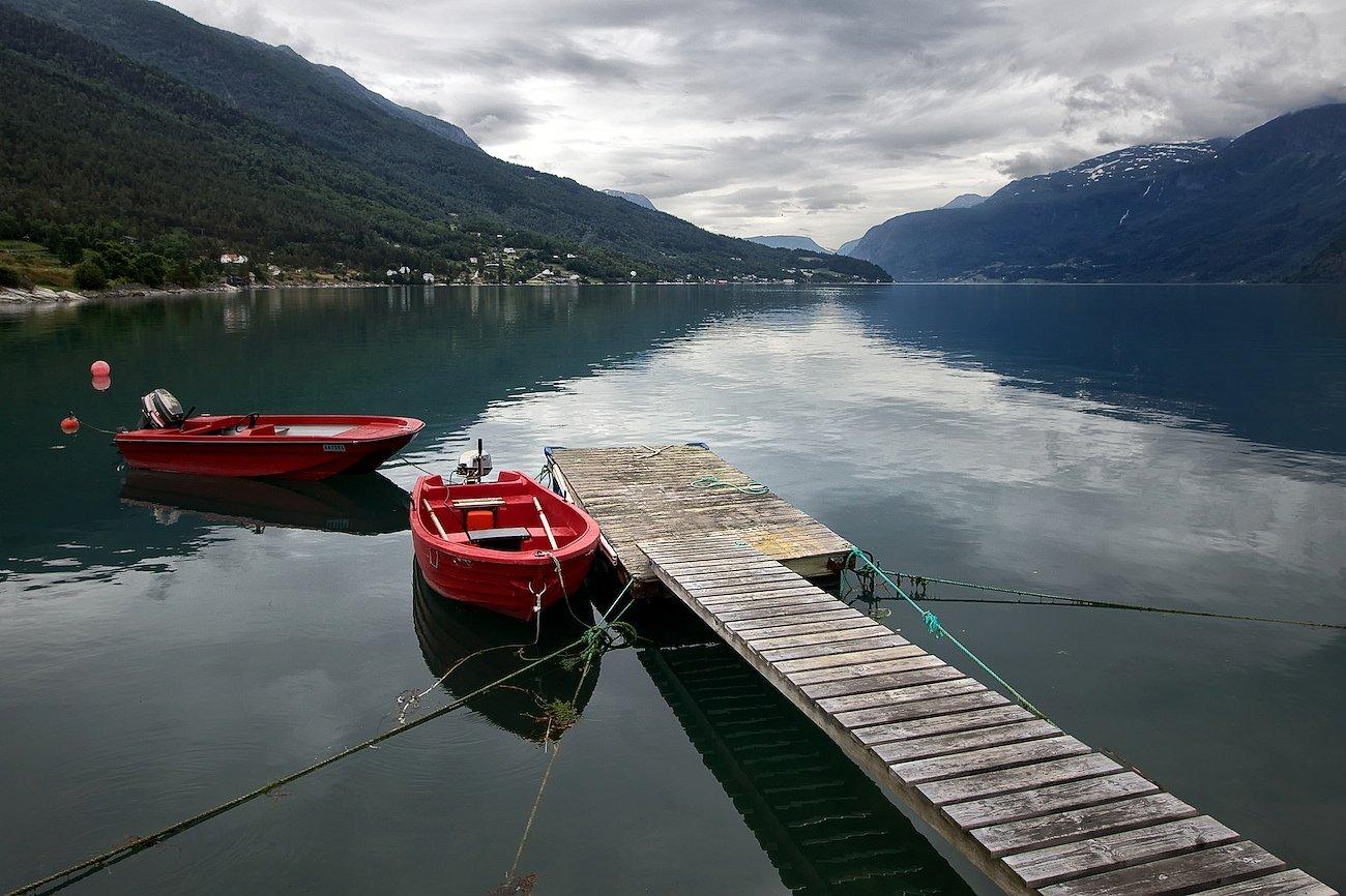 норвегия,июль,озеро,горы,облака., СПИРИДОНОВ НИКОЛАЙ