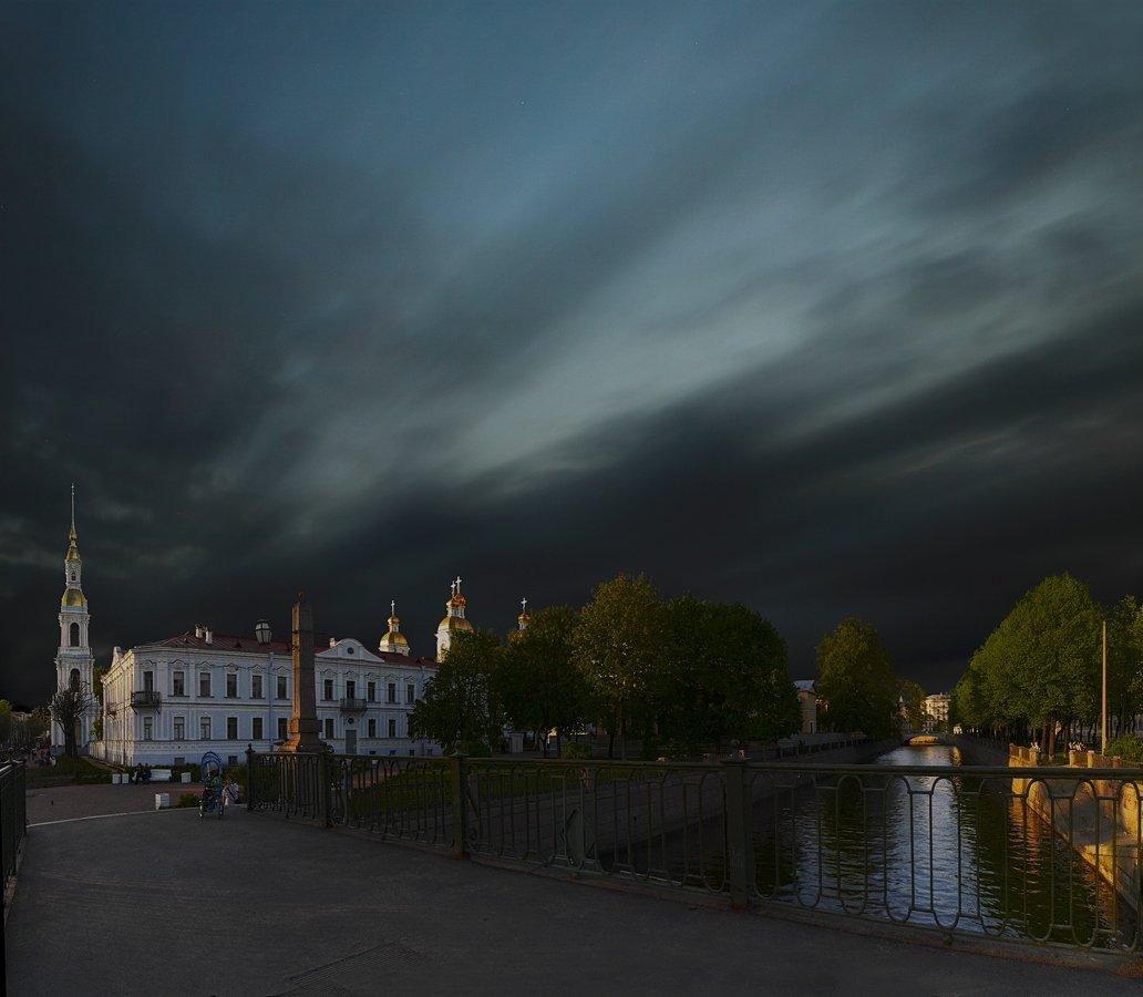 длинная, выдержка, петербург, вечер, закат, zapravka2