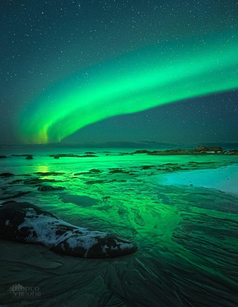 aurora,north lights,norway,norwegian,lofoten,skagsanden,night,, Szatewicz Adrian