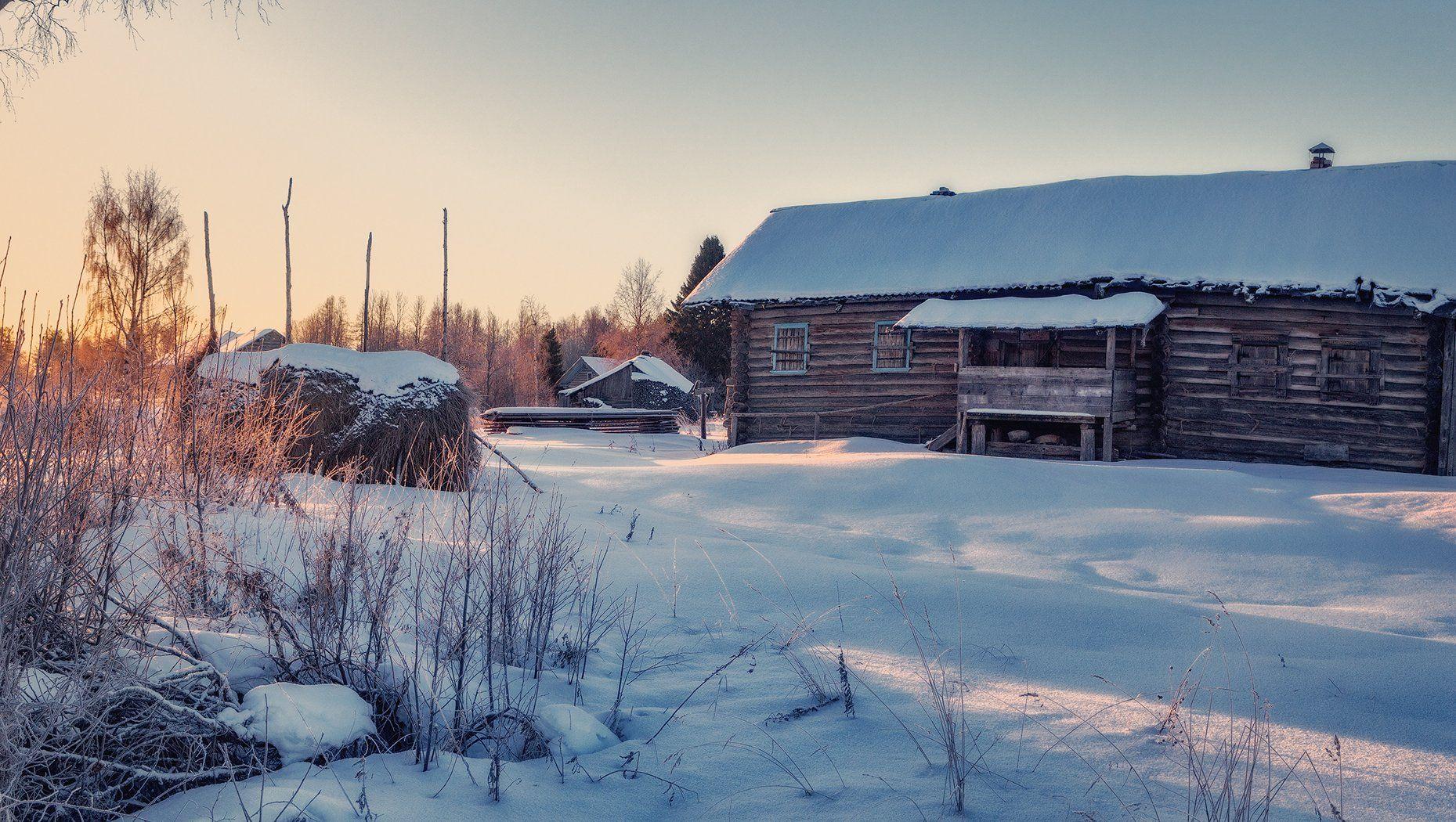 кенозерье, зима, снег, деревня, Липецких Владимир