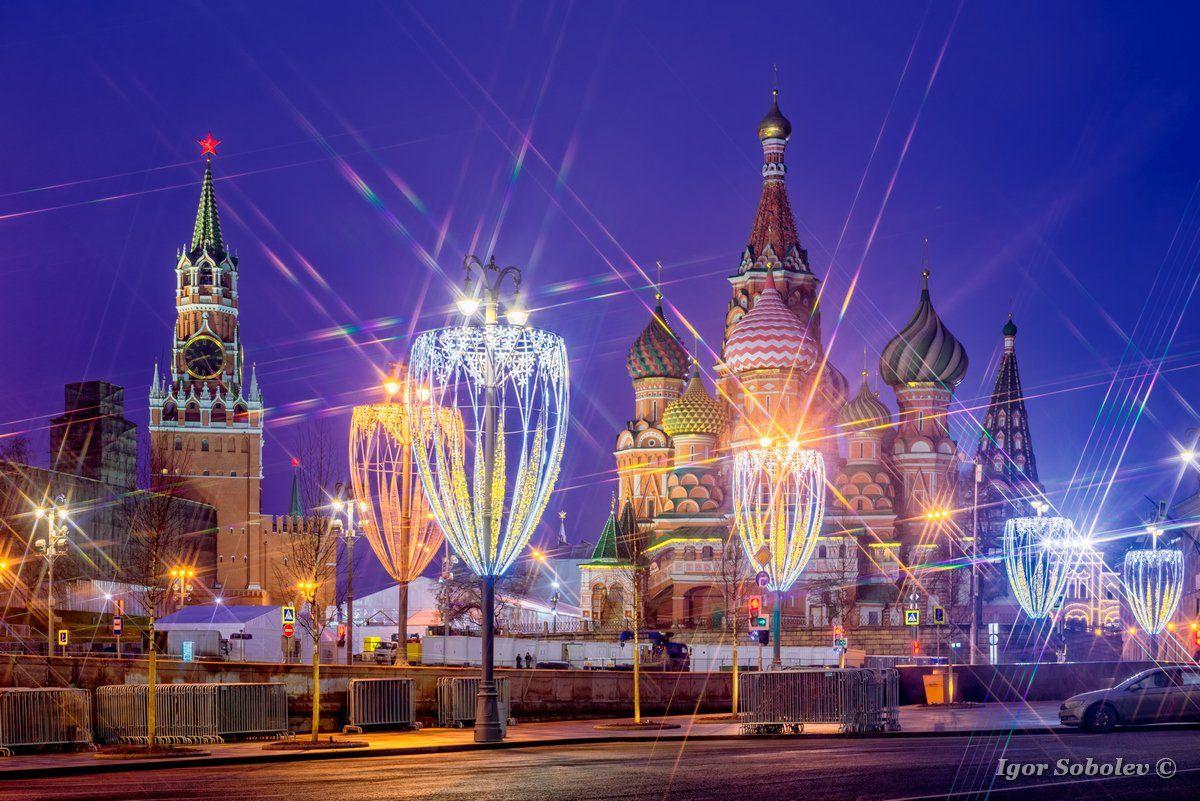 Москва, Кремль, Новый год, Moscow, Kremlin, New Year, Игорь Соболев