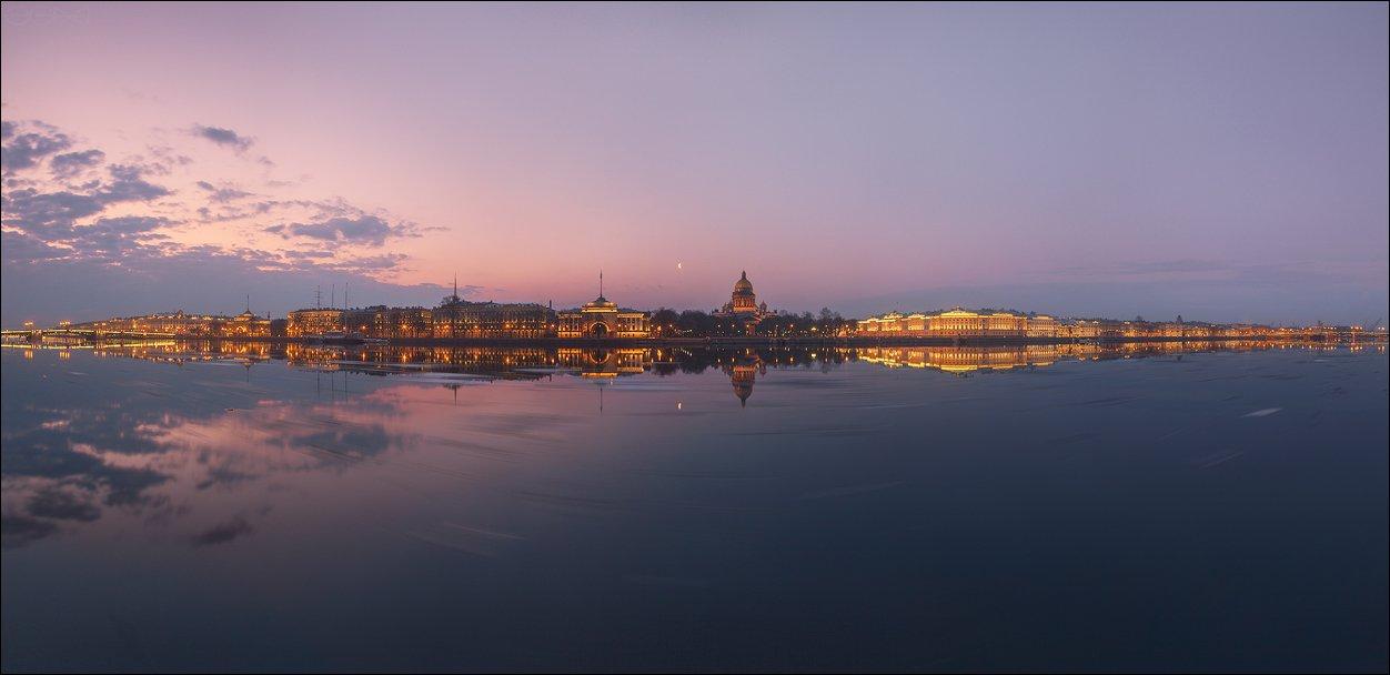 санкт-петербург, нева, исаакиевский, собор, адмиралтейство, сенад, синод, ледоход, панорама, EGRA : ЕГРА